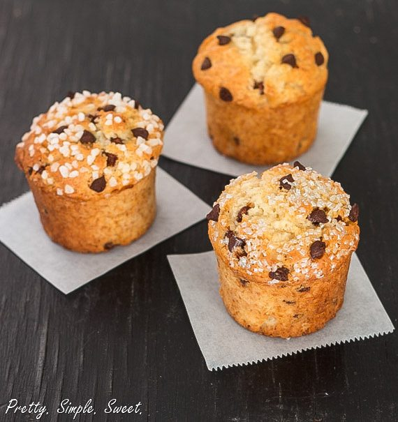 ... fabulous recipe for these classic bakery style chocolate chip muffins