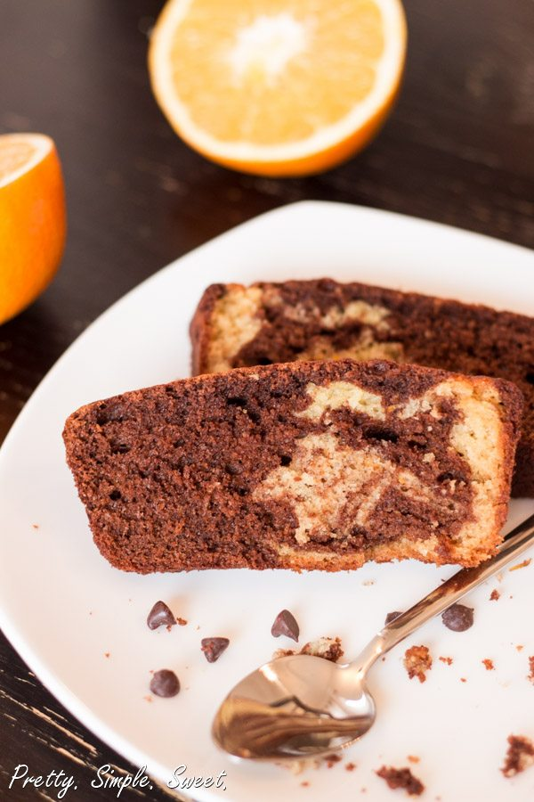 Chocolate Orange Marble Cake | prettysimplesweet.com