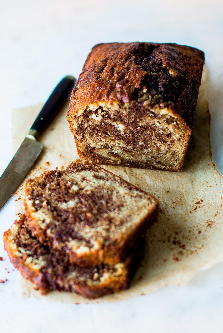 Nutella Marble Pound Cake