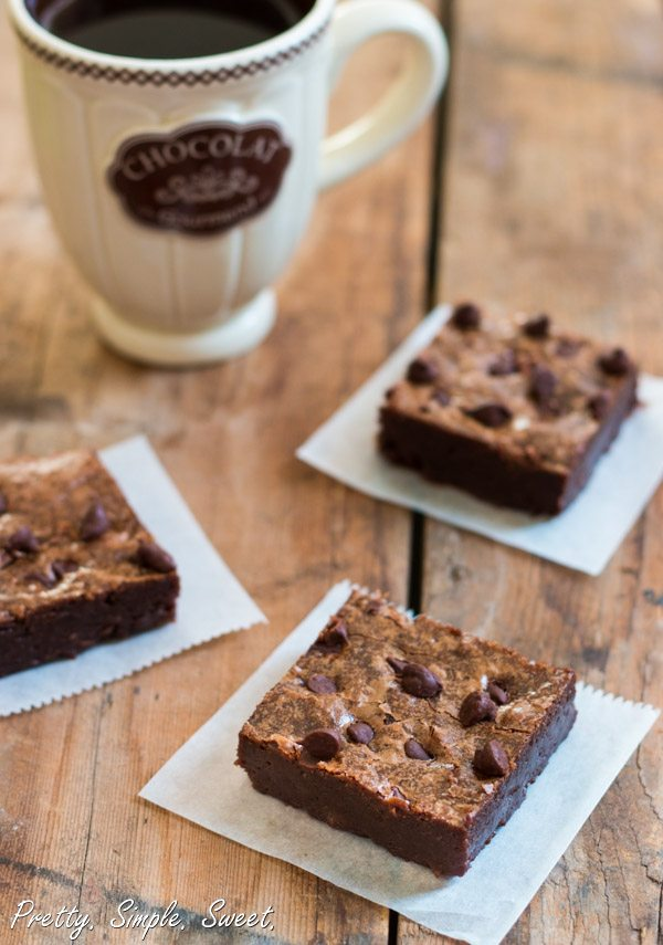 Classic fudgy brownies - all you need is just one bowl and 15 minutes of your time!   prettysimplesweet.com