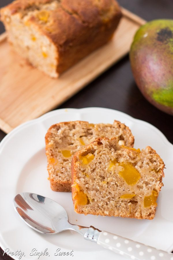Super moist fresh mango bread