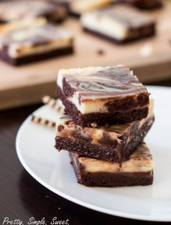 Cheesecake Brownies | prettysimplesweet.com