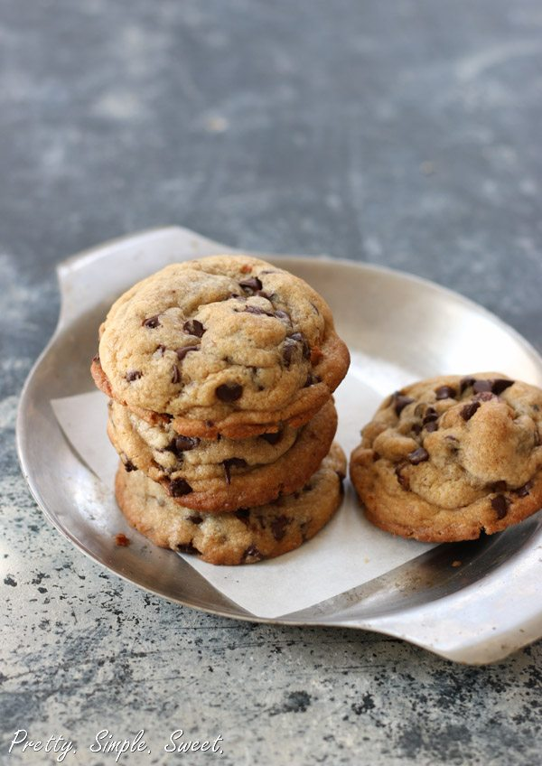 Soft, Chewy and Thick Chocolate Chip Cookies | Pretty. Simple. Sweet.