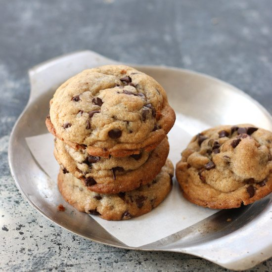 Soft Chewy And Thick Chocolate Chip Cookies