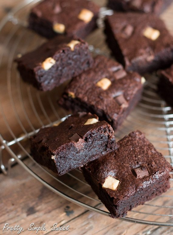 The BEST cocoa brownies. Incredibly fudgy! | prettysimplesweet.com