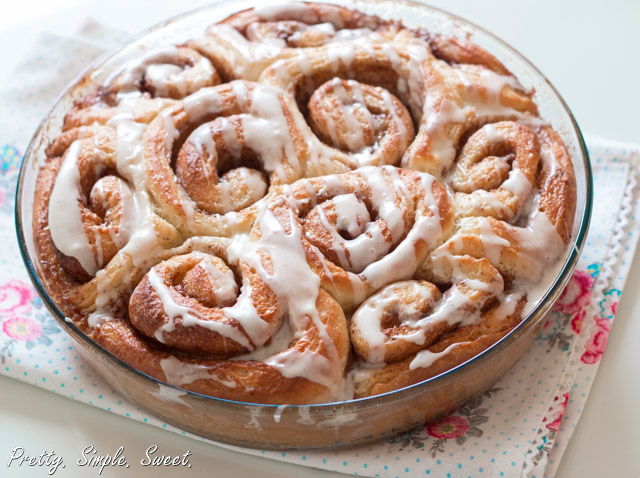 The BEST Cinnamon Rolls - fluffy, gooey, and made from scratch. | prettysimplesweet.com