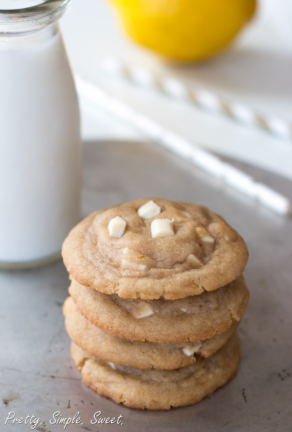 Unbelievably Soft Lemon White Chocolate Cookies