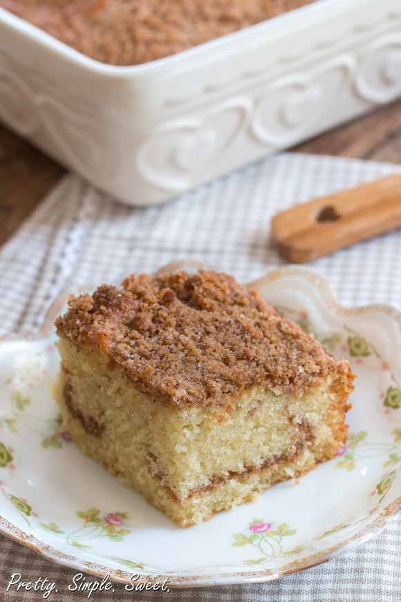 Sour Cream Cinnamon Streusel Coffee Cake
