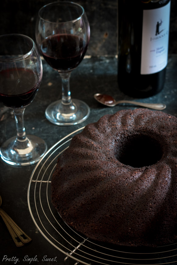 ... moist, and flavorful red wine chocolate cake | prettysimplesweet.com