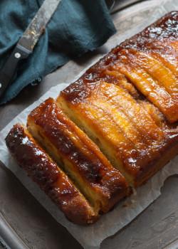 Caramel Banana Upside Down Cake