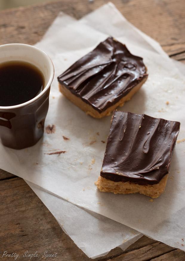 No Bake Chocolate Peanut Butter Bars