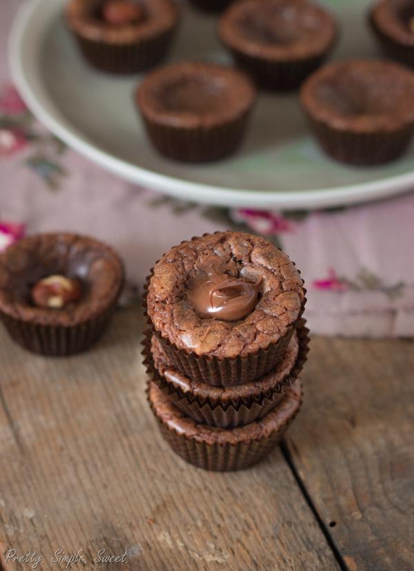 4-Ingredient Nutella Fudge Muffins