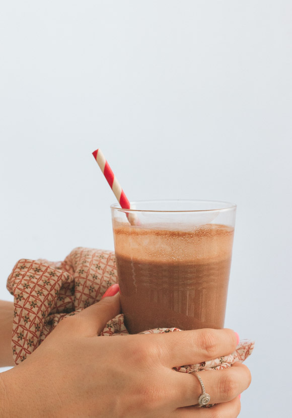 Healthy Chocolate Peanut Butter Smoothie   prettysimplesweet.com