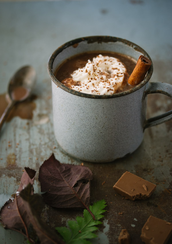 European-style hot chocolate, thick, decadent, and insanely chocolaty!