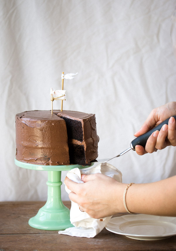 One Layer Moist Chocolate Cake