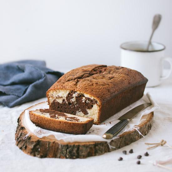 Chocolate Chip And Vanilla Marble Cake