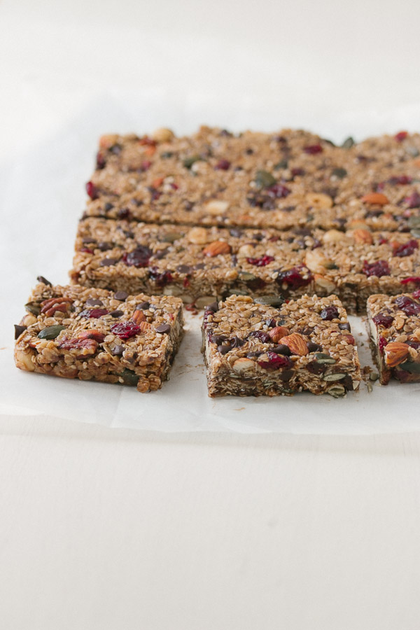 Versatile and healthy homemade granola bars, packed with your favorite ingredients. | prettysimplesweet.com
