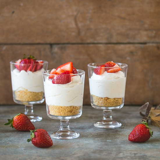 Individual No Bake Cheesecake