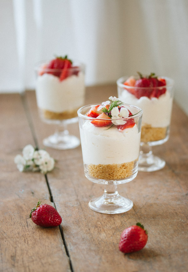 No Bake Cheese Cake In A Glass