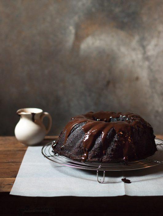 Chocolate Sour Cream Bundt Cake | prettysimplesweet.com