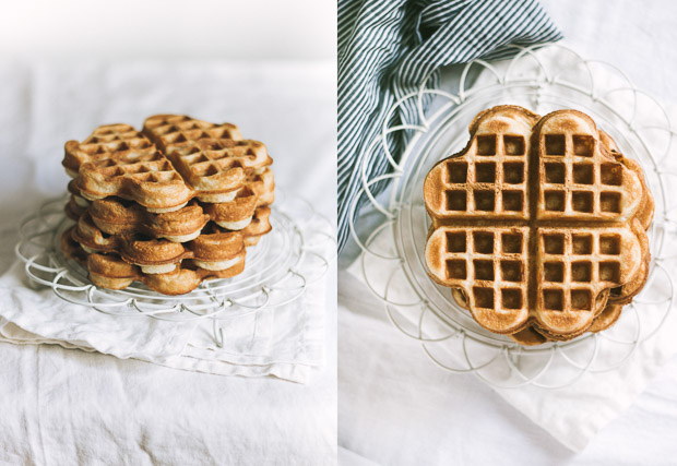 Crispy, soft and fluffy homemade waffles | prettysimplesweet.com
