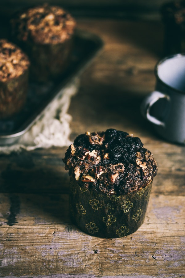 these muffins are moist flavorful and very chocolatey with a
