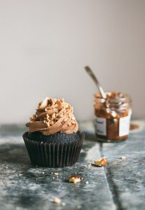 Moist chocolate cupcakes with a creamy dreamy Nutella frosting. | prettysimplesweet.com