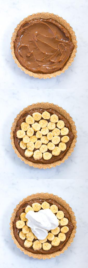 No-Bake Banoffee (bananas and toffee) Pie   prettysimplesweet.com