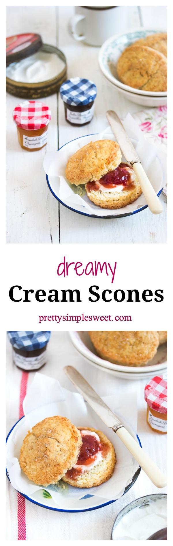 Dreamy Cream Scones | prettysimplesweet.com