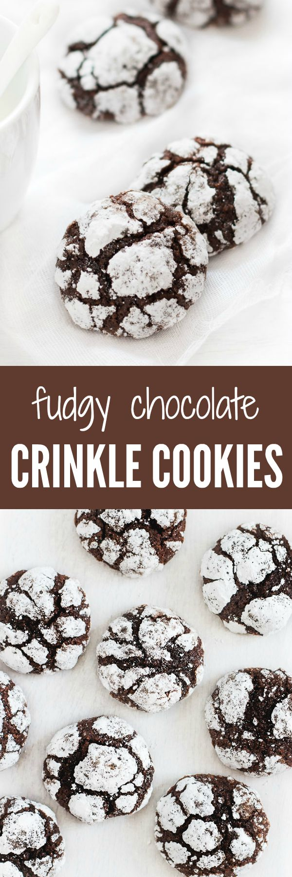 Crunchy on the outside and super fudgy on the inside, these crinkle cookies are a chocolate lover's dream. | prettysimplesweet.com