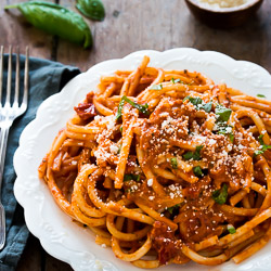 Pasta with Tomato Cream Sauce - Pretty. Simple. Sweet.