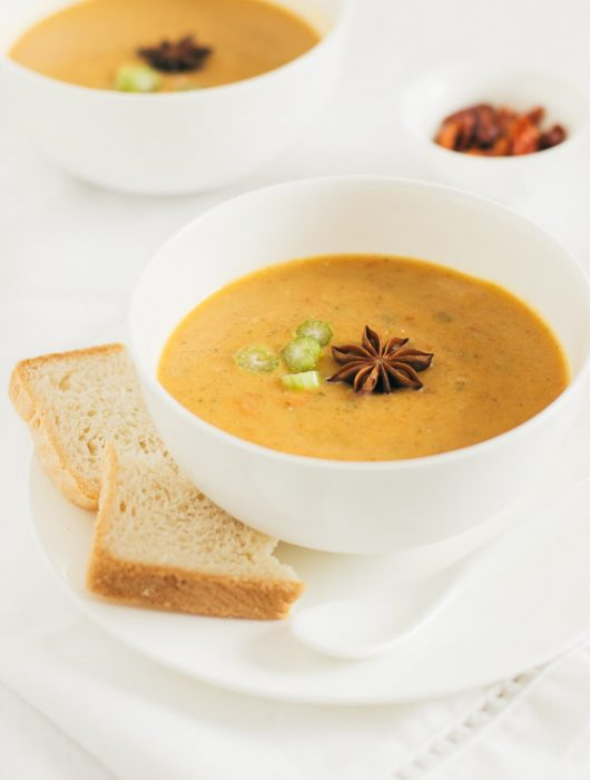 curry, carrot and coconut milk soup
