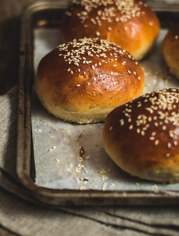 My favorite hamburger buns - airy, soft, thick, fluffy, and simply perfect. Plus, they can be made dairy-free.