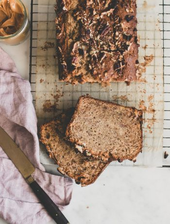 Moist and fluffy peanut butter banana bread