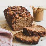Moist and fluffy peanut butter banana bread