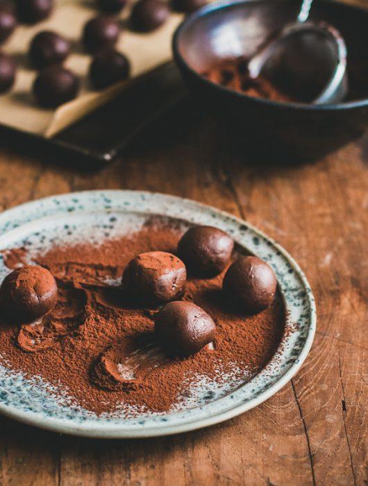Addictive chewy chocolate caramel truffles