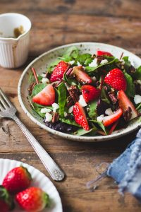 Strawberry and Mixed Green Salad