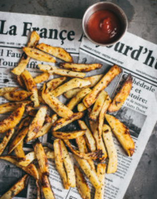 Oven baked French fries - perfectly soft on the inside and crispy on the outside!