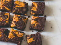 Peanut Butter Swirl Brownies