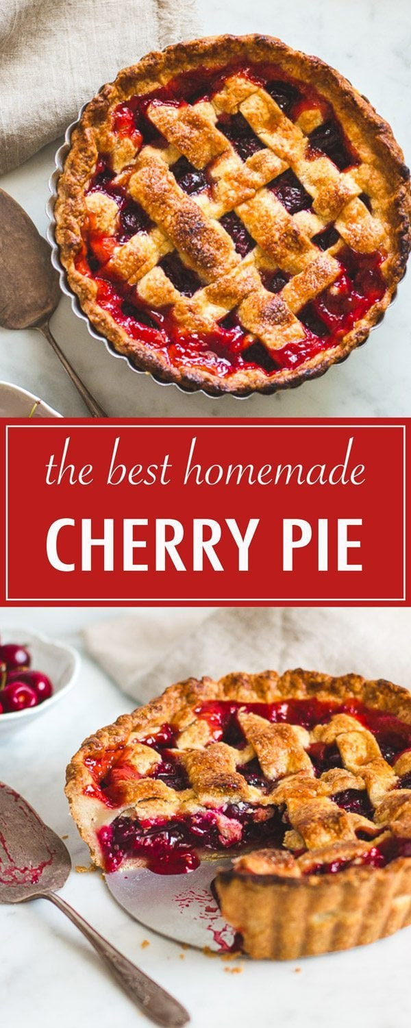 The Ultimate Cherry Pie. You can use either sweet or sour cherries, and the filling is easy to make.