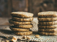 Coffee Nut Shortbread Cookies