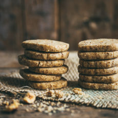 Addictive Coffee Nut Shortbread Cookies