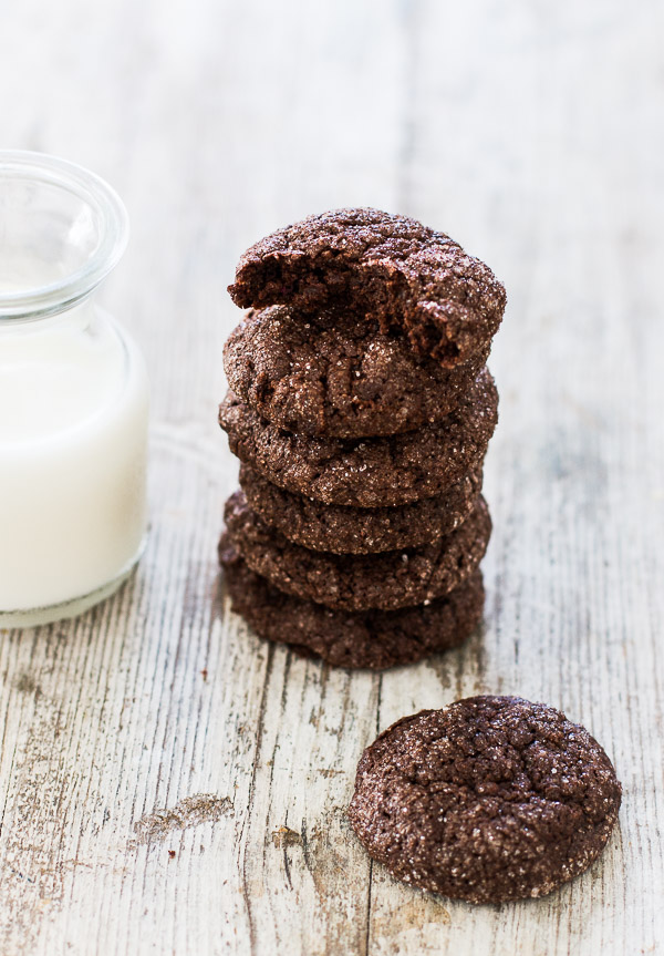 Super Fudgy Flourless Chocolate Cookies