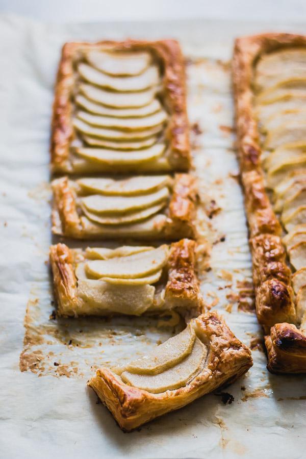 4-Ingredient Easy Puff Pastry Apple Tart