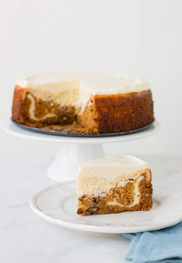 delicious carrot cake cheesecake