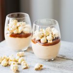Salted Caramel Cheesecake Mousse with Caramel Corn