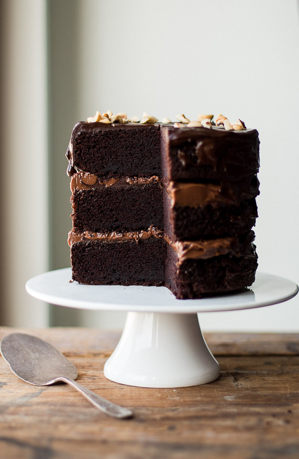 Chocolate Hazelnut Layer Cake - Pretty. Simple. Sweet.