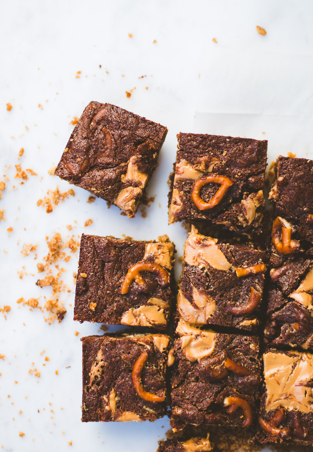 Pretzel Peanut Butter Brownies