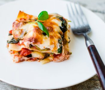 Lighter Spinach and Ricotta Lasagna