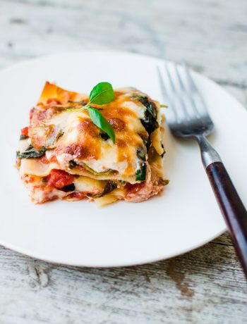Lighter Spinach and Ricotta Lasagna